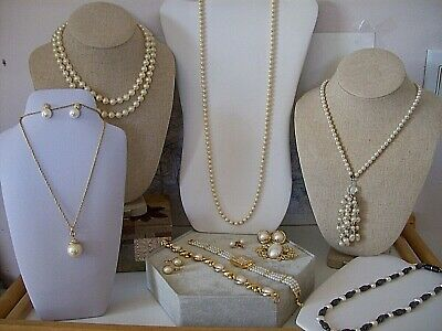 $ CDN75 • Buy Vintage Pearl Lot - 12 Mixed Pieces + Working Watch