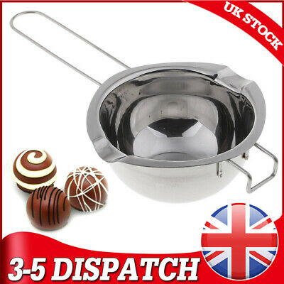 UK Fits DIY Wedding Scented Candle Stainless Steel Wax Melting Pot Double Boiler • 6.56£