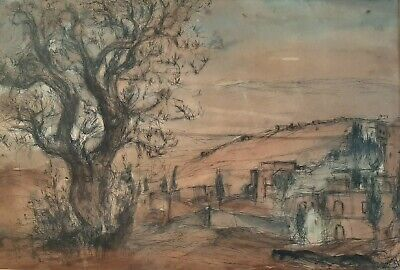 $ CDN308.42 • Buy ESTHER LURIE (1913-1998), Watercolor & Ink On Paper, Jerusalem, Signed, 1965