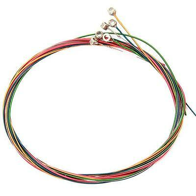 $ CDN1.72 • Buy Steel Rainbow Colorful Color Strings Set For Acoustic Guitar Good Quality KY