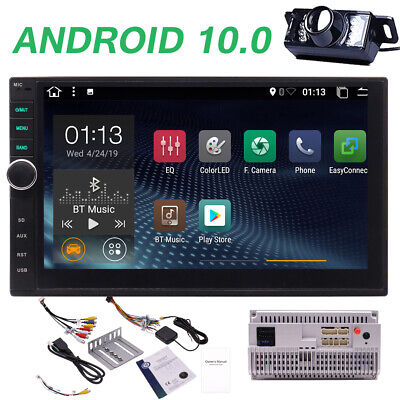 AU239.99 • Buy 7'' Android 10.0 Double 2 DIN GPS Car Stereo Head Unit FM/AM Player WiFi DAB CAM