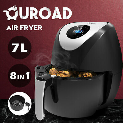 AU59.90 • Buy 8in1 Air Fryer 7L LCD 1700W Oil Free Low Fat Healthy Cooker Kitchen Oven Black