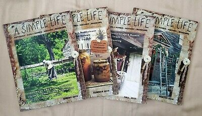 $24.99 • Buy Lot Of 4 - Complete 2015 Year A SIMPLE LIFE Magazines Spring Summer Fall Winter