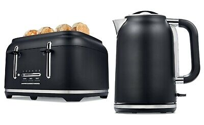 AU144.50 • Buy Black Toaster 4 Slice Cordless 1.7L Kettle Stainless Steel Electric Kitchen Set