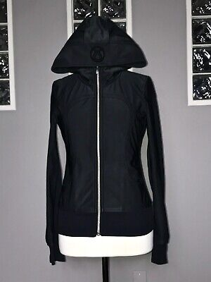 $ CDN79.20 • Buy Lululemon Uba Hoodie 4 Softshell Jacket Black Water Resistant To & From Vguc