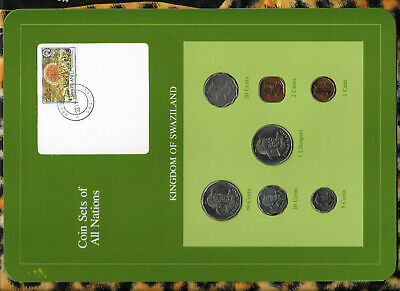 $14 • Buy Coin Sets Of All Nations Swaziland 1975-1982 20,10,5 Cents, 1 Lilangeni 1979