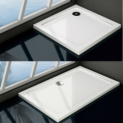 £62.69 • Buy Walk In Shower Tray Enclosure Wet Room Slimline Square Rectangle Stone Tray