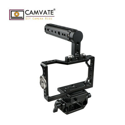 $ CDN154.40 • Buy CAMVATE Camera Cage Stabilizer ARCA Quick Baseplate ARRI Handle For Sony A6500
