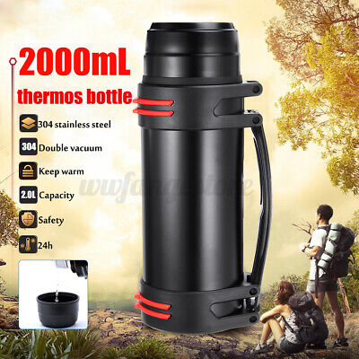 AU28.49 • Buy AU 2L Stainless Steel Thermos Travel Mug Flask Thermal Hot Water Insulated ~