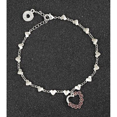 Red Poppy Heart Bracelet Diamante By Equilibrium • 13.95£