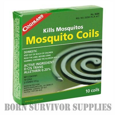 COGHLAN'S MOSQUITO COILS 10 Pack Insect Repellent Midge Bug Coil Camping Burner • 6.99£