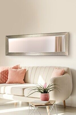 Extra Large Silver Shabby Chic Wall Mirror Full Length Art Deco 150CM X 50CM • 81.99£