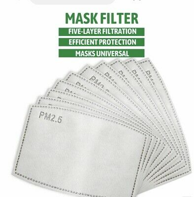 £2.99 • Buy PM2.5 FILTER For Washable Reusable Cotton Face Mask Activated Carbon X 10