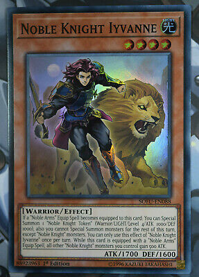 YuGiOh NOBLE KNIGHT IYVANNE SOFU-EN088 MINT 1st EDITION SUPER RARE CARD • 0.99£