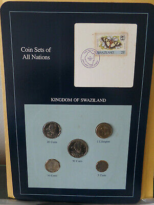 $7.99 • Buy Franklin Mint Coin Sets Of All Nations Kindowm Of Swaziland