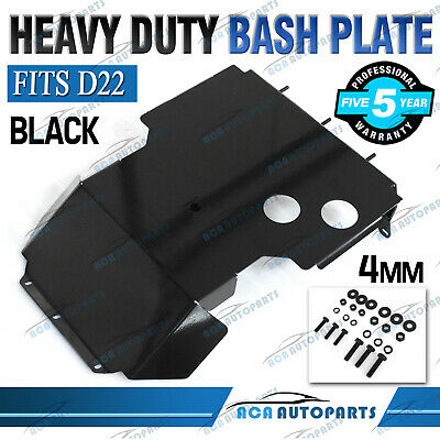 AU137 • Buy Black Bash Plate Fits Nissan Navara D22 2002-2015 Front Guard Protect 4mm Thick