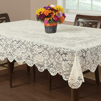$32.99 • Buy IVORY  Lace Tablecloth  60 X 84 RECTANGLE BUCKINGHAM