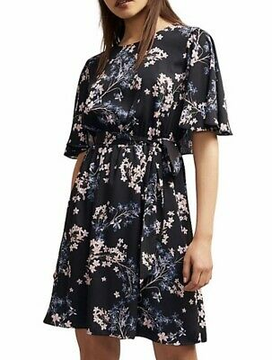 AU19.90 • Buy WITCHERY Georgette Print Dress With Frill Detail.. Fit Size 8/10
