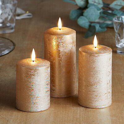 Distressed Copper TruGlow® Battery LED Flameless Pillar Candles Timer Lights4fun • 29.99£