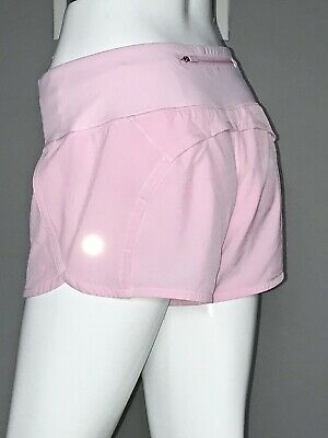 "$ CDN79.20 • Buy Lululemon Run Times Short 6 Pearl Pink 4"" Speed Eeuc"
