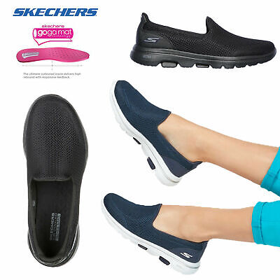 Skechers Womens Go Walk 5 Ultra Comfort Air Cooled Insole Slip On Trainers • 54.98£
