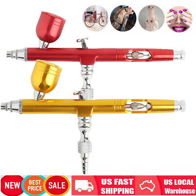 $13.99 • Buy Dual Action Gravity Feed 0.3mm Gun Spray Airbrush Nail Art Paint Tattoo Tool Set