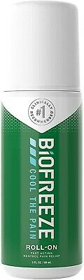 Biofreeze Pain Relieving Roll-On, 89 Ml, Cooling Topical Analgesic Long Lasting • 17.99£
