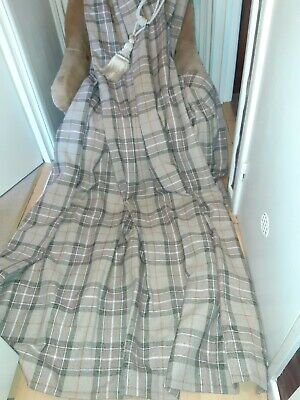 Burford ? Eyelet Thermal  Lined Check Next Curtains 66x90ins • 20£