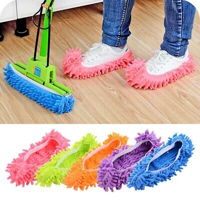 1 Pair Mop Slippers Foot Socks Lazy Floor Shoes Quick Polishing Dust Cleaning • 3.99£