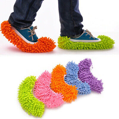 5 Pairs Creative Floor Shoes Mop Slippers Lazy Quick Polishing Cleaning Dust UK • 1.49£