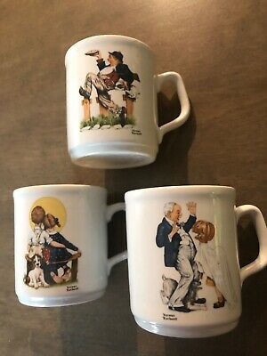 $ CDN6.59 • Buy Norman Rockwell Mugs Coffee Tea  Lot Of 3