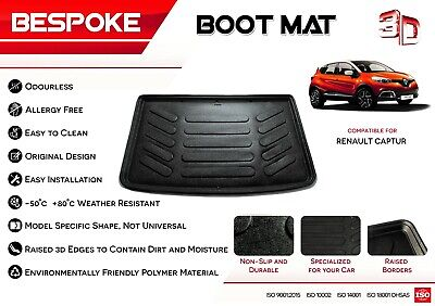 Renault CAPTUR 2015+ Tailored Rubber Boot Liner Fitted Mat Dog Tray  • 18.99£