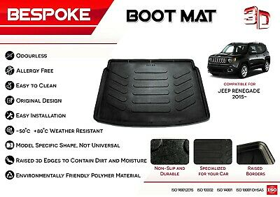 £19.49 • Buy Jeep Renegade 2015+ Tailored Rubber Boot Liner Fitted Mat Dog Tray