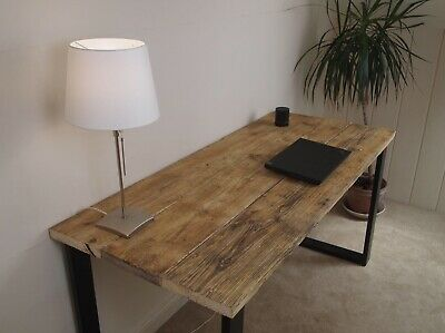 Upcycled Scaffolding Board Dining Table With Industrial Steel Frame Legs • 240£