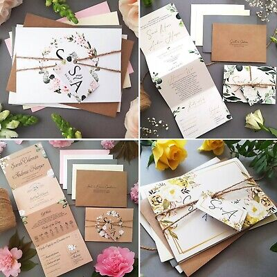 Wedding Invitations With Envelopes Samples (non-personalised Samples) • 0.99£