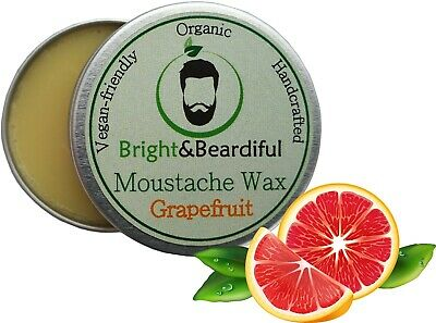 Grapefruit Moustache Wax Strong Hold For Styling, Handlebar, Twists & Curls 15ml • 3.85£