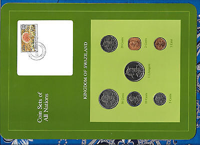 $18.89 • Buy Coin Sets Of All Nations Swaziland Wcard 1975-1982 UNC 50 Cents 1 Lilangeni 1981