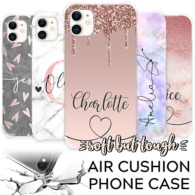 AU11.31 • Buy Personalised Phone Case Initials Name Marble Cover For Apple Iphone 8 7 Xr 11
