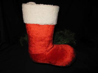 "$ CDN24.07 • Buy Vintage Large 13"" Paper Mache Santa Boot Christmas Gift Candy Container – NICE!"