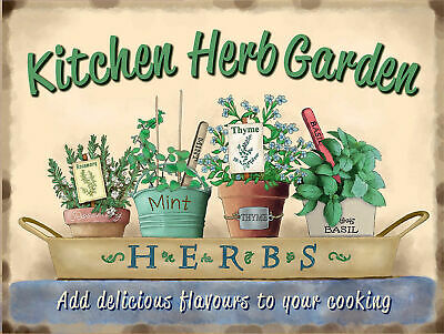 £4.75 • Buy Kitchen Herb Garden Signs Retro Bar Pub Garage Poster Wall Shed Man Cave Shed A7