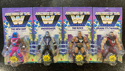 $109.99 • Buy WWE Masters Of The Universe COMPLETE SET WAVE 3 - ROCK UNDERTAKER NEW DAY BRAUN