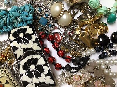 $ CDN13.34 • Buy Vintage To Now Costume Jewelry Lot 2 Lbs Estate Necklaces Bracelets Earring Lot2