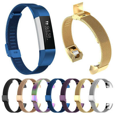 AU10.46 • Buy For Fitbit Alta & HR & ACE Milanese Metal Stainless Steel Watch Band Strap S/L