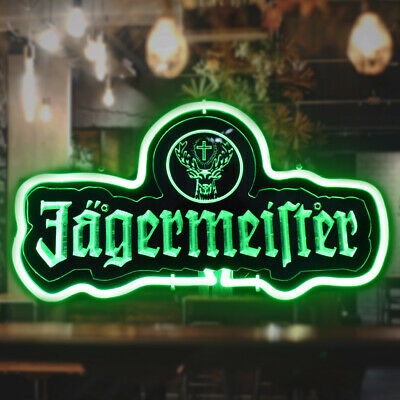 $ CDN82.54 • Buy SD230G Jagermeister 3D Carved Neon Sign Bed Room Home Decor Beer Bar Light