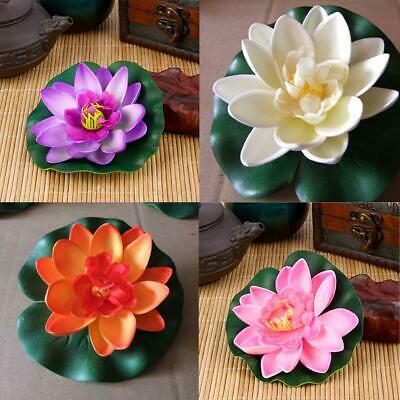 $ CDN4.16 • Buy 4pc Fake Lotus Water  Floating Flower Garden Pool Plant Artificial Ornament U S