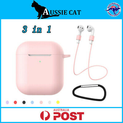 AU5.95 • Buy Apple Airpods Case Silicone Gel Skin Cover Holder For Shockproof Airpod Gen 1&2