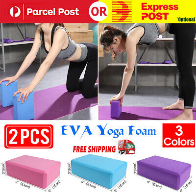 AU12.99 • Buy 2Pcs Gym Sport Tool Foaming Yoga Fitness Practice Block Brick Home Exercise