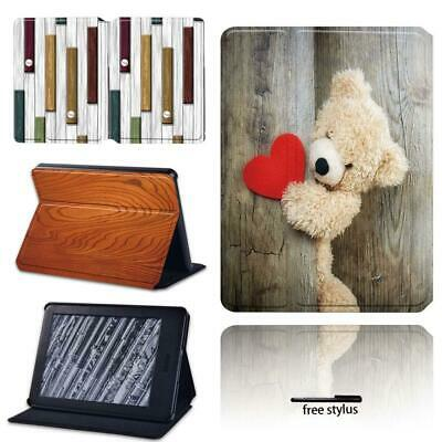 Leather Stand Cover Wood Sign Cases For Amazon Kindle 8 /10th Paperwhite 1/2/3/4 • 7.99£