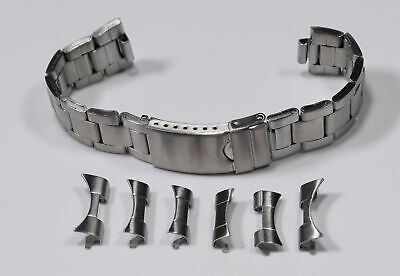 $ CDN32.30 • Buy Oyster Curved Ends Satin Steel Silver 18mm - 22mm Watch Bracelet Rolex Band New