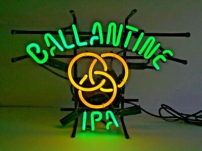 $ CDN164.28 • Buy Ballantine IPA Real Neon Sign Beer Bar Light Home Decor Hand Made Artwork